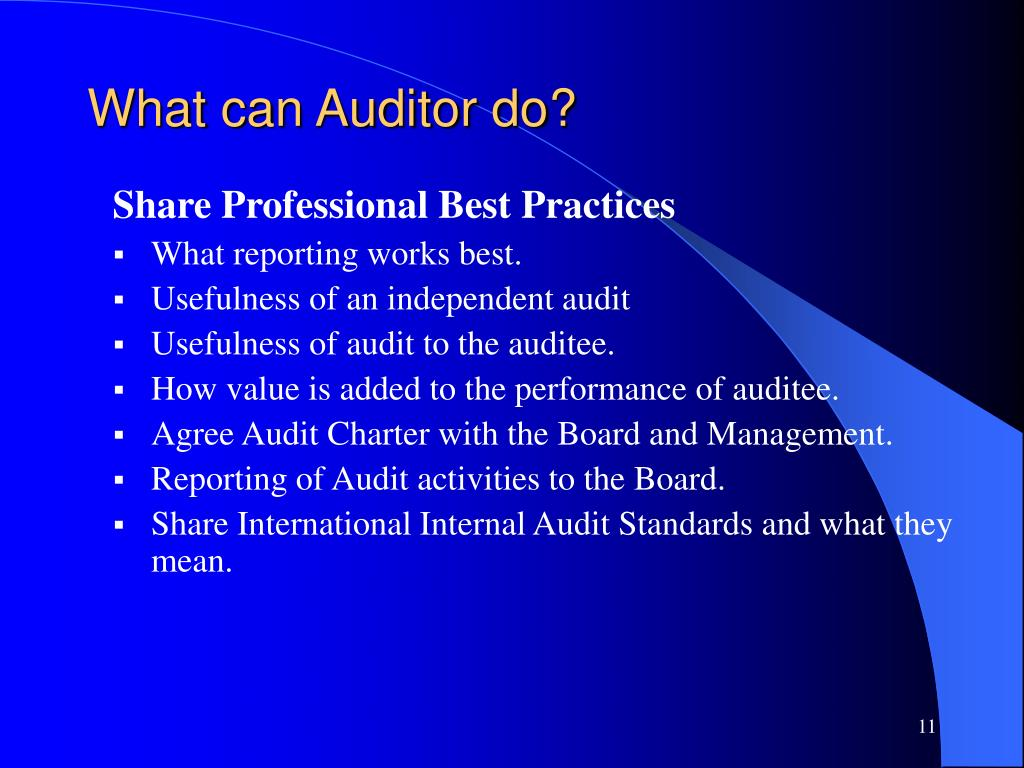 What can Auditor do?