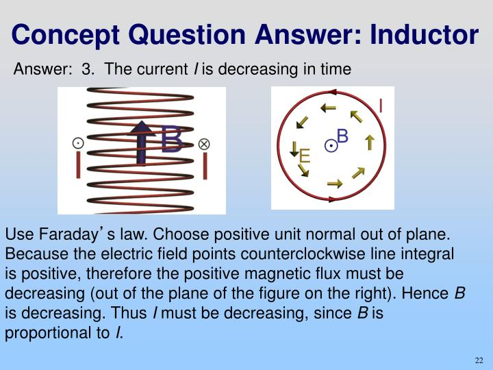 Concept Question Answer: Inductor