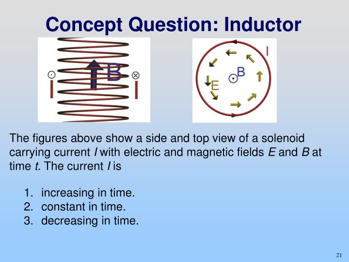 Concept Question: Inductor