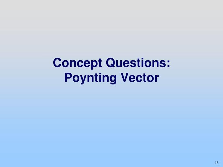 Concept Questions: