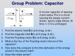 group problem capacitor