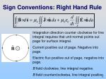 sign conventions right hand rule