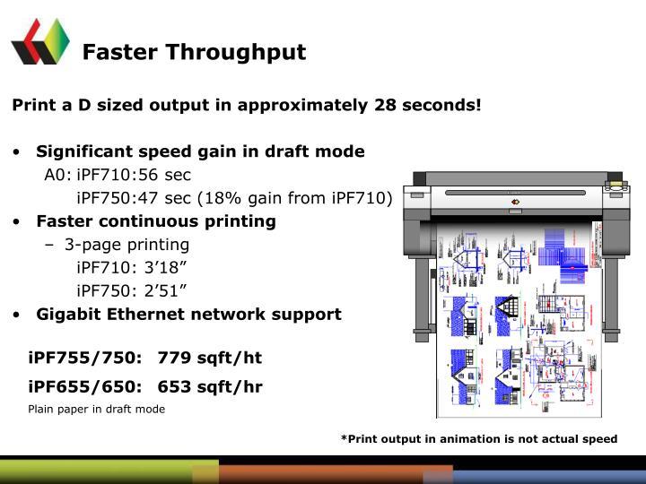 Faster Throughput