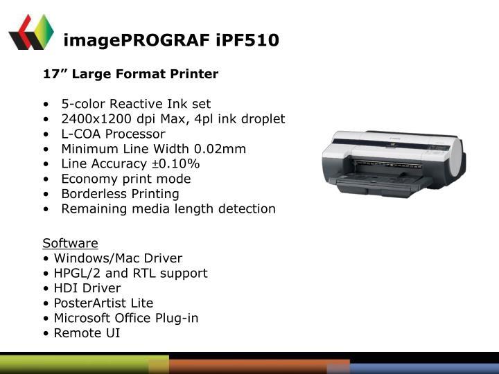 imagePROGRAF iPF510