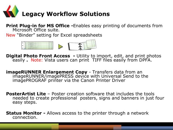 Legacy Workflow Solutions