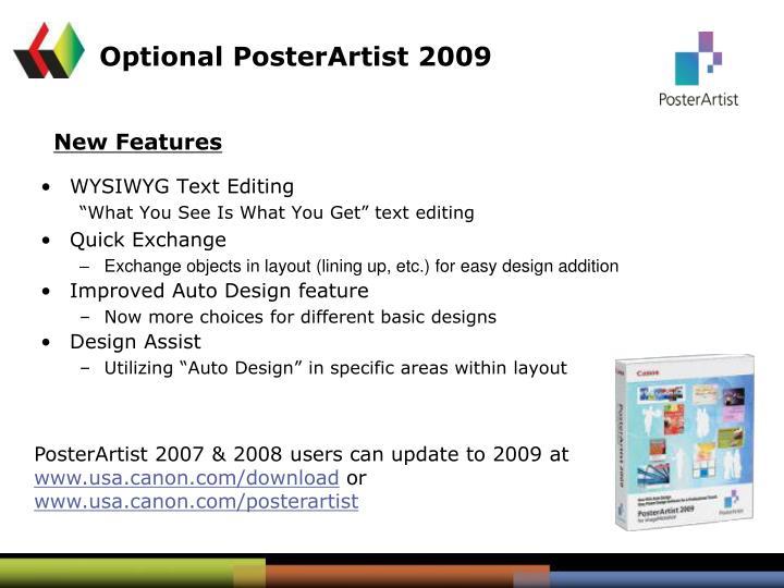 Optional PosterArtist 2009