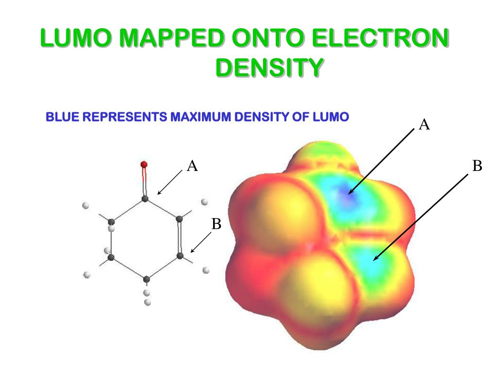 LUMO MAPPED ONTO ELECTRON DENSITY