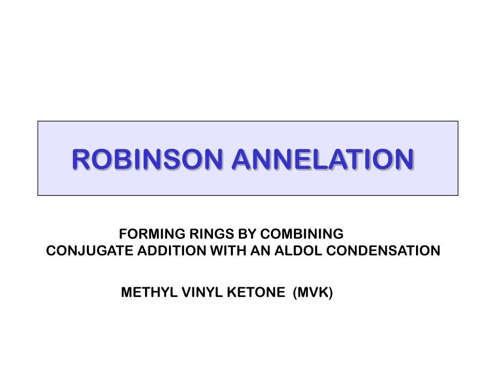 ROBINSON ANNELATION