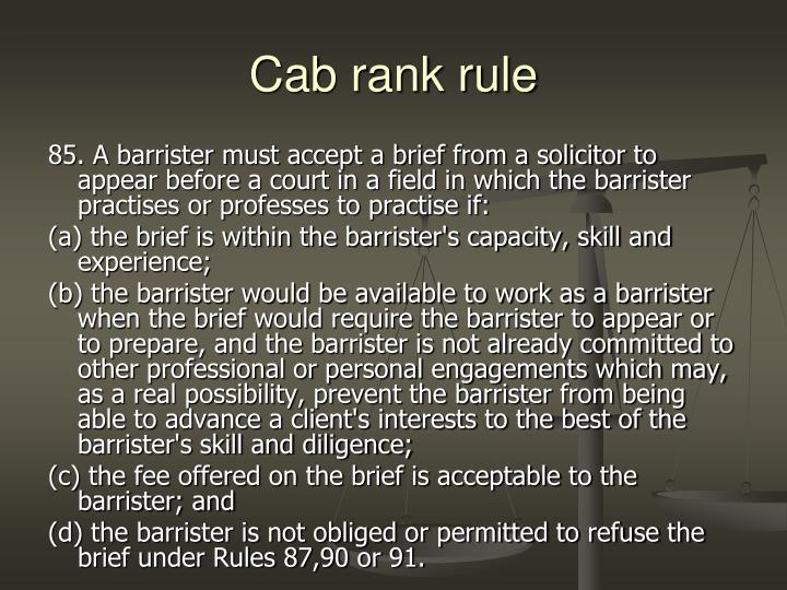 Cab rank rule