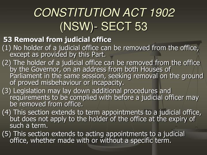 CONSTITUTION ACT 1902
