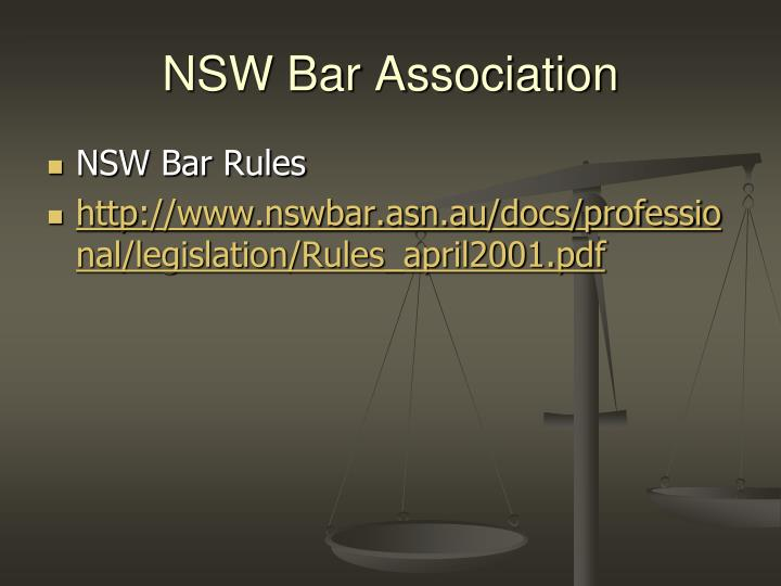 NSW Bar Association