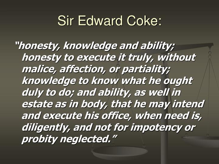 Sir Edward Coke: