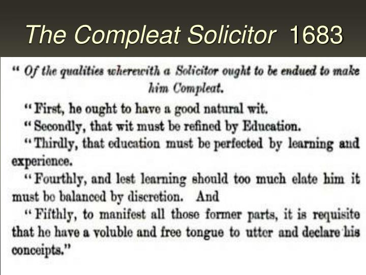 The compleat solicitor 1683