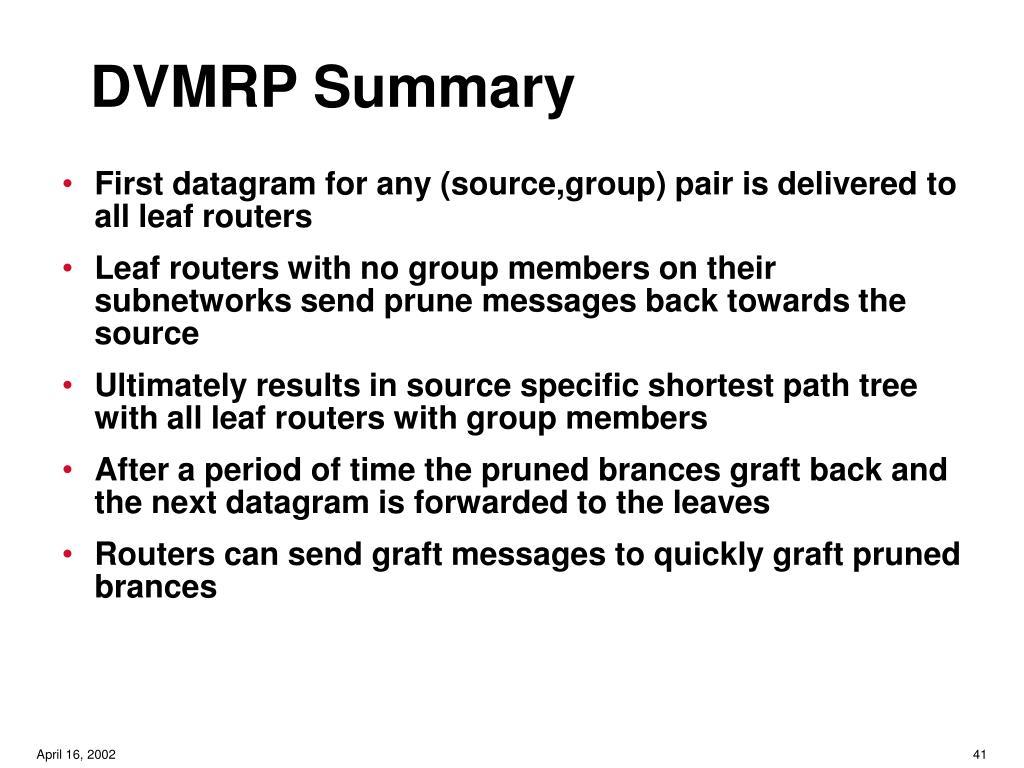 DVMRP Summary