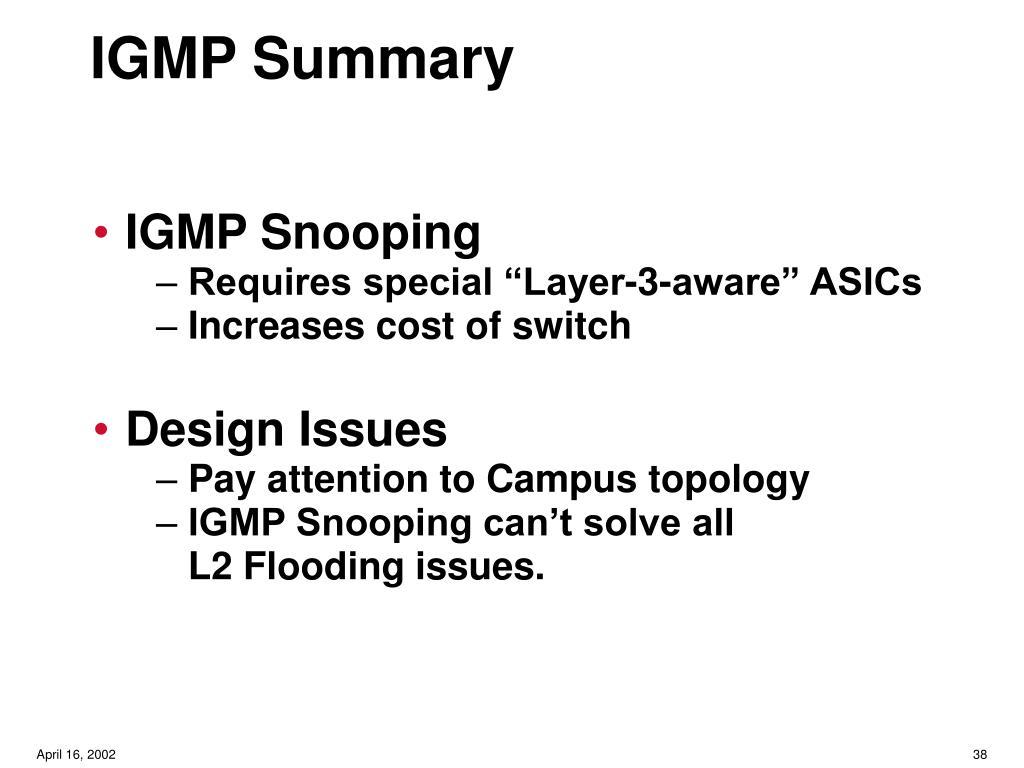 IGMP Summary