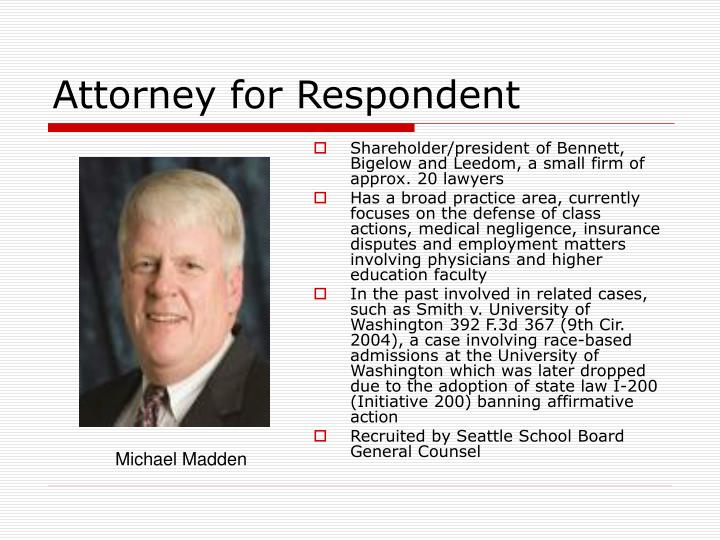 Attorney for Respondent