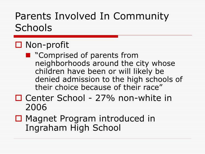 Parents Involved In Community Schools