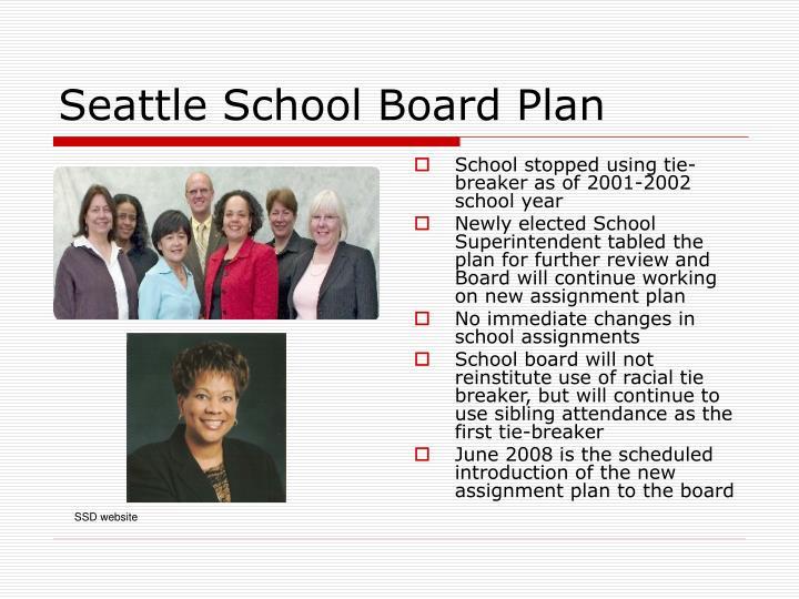 Seattle School Board Plan