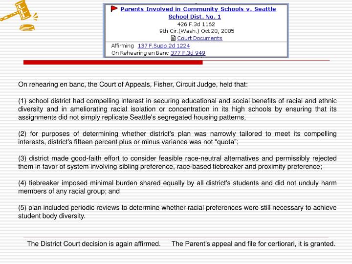 On rehearing en banc, the Court of Appeals, Fisher, Circuit Judge, held that: