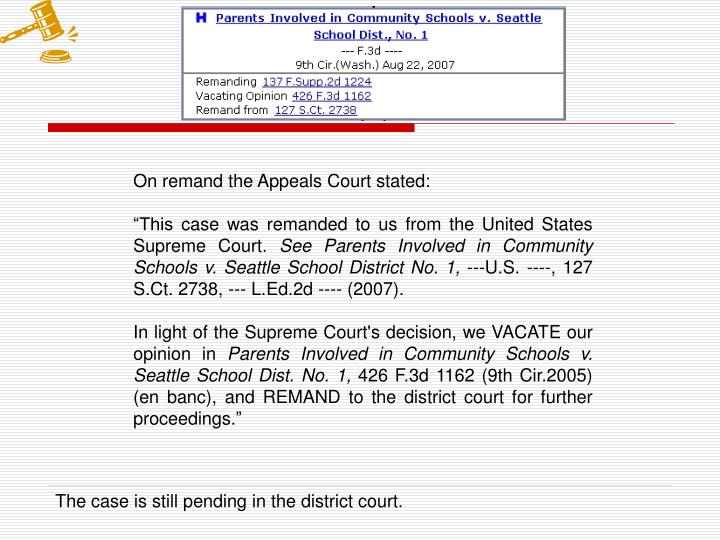 On remand the Appeals Court stated: