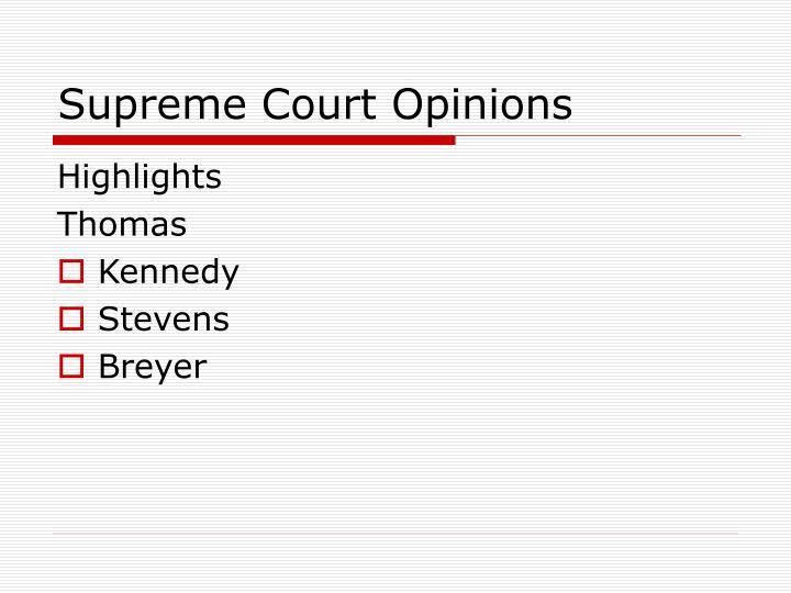 Supreme Court Opinions