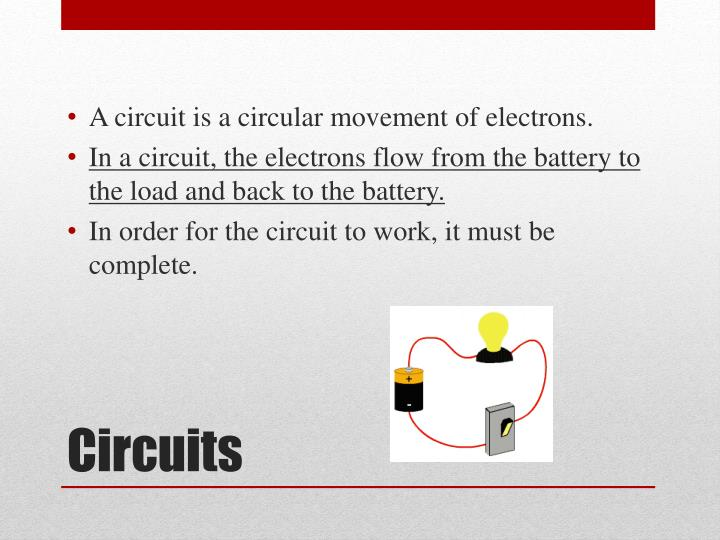 A circuit is a circular movement