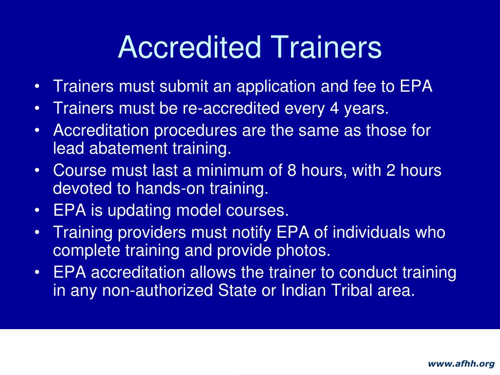 Accredited Trainers