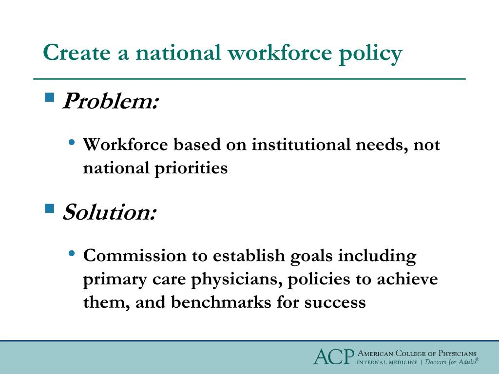 Create a national workforce policy