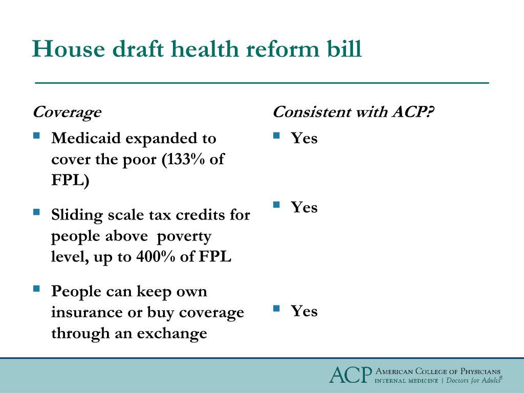House draft health reform bill