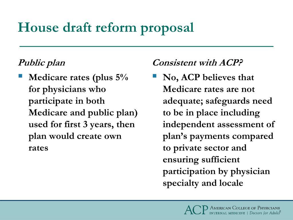 House draft reform proposal