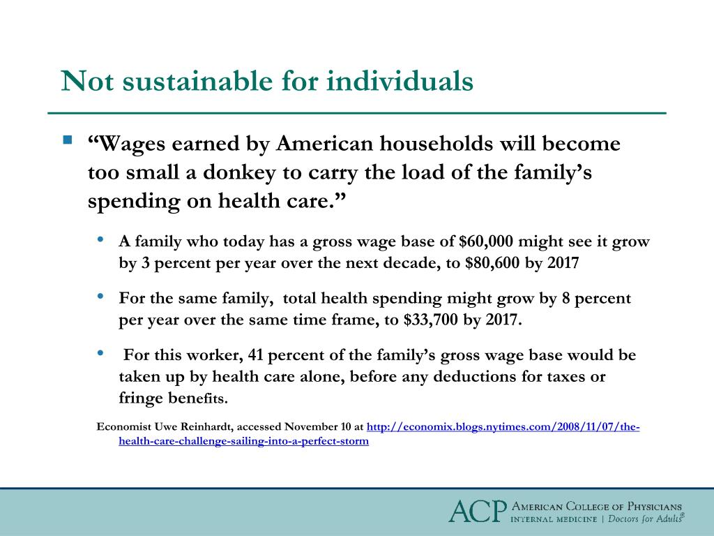 Not sustainable for individuals
