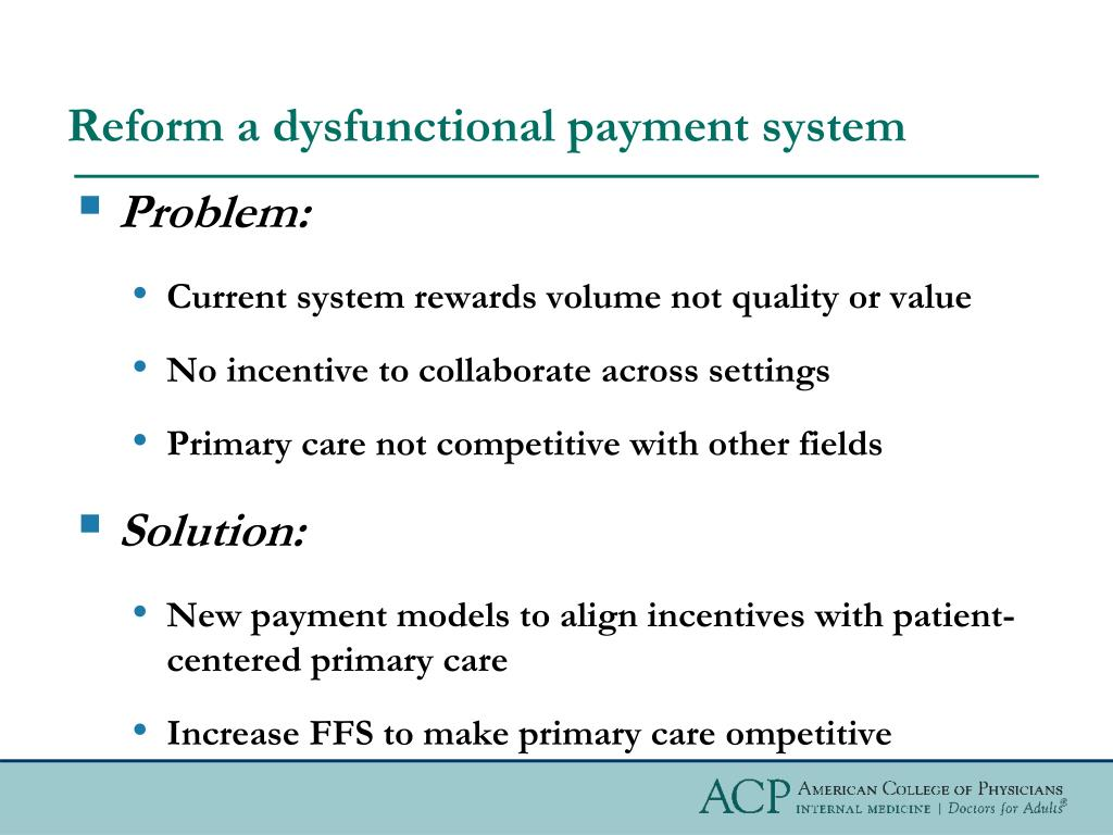 Reform a dysfunctional payment system