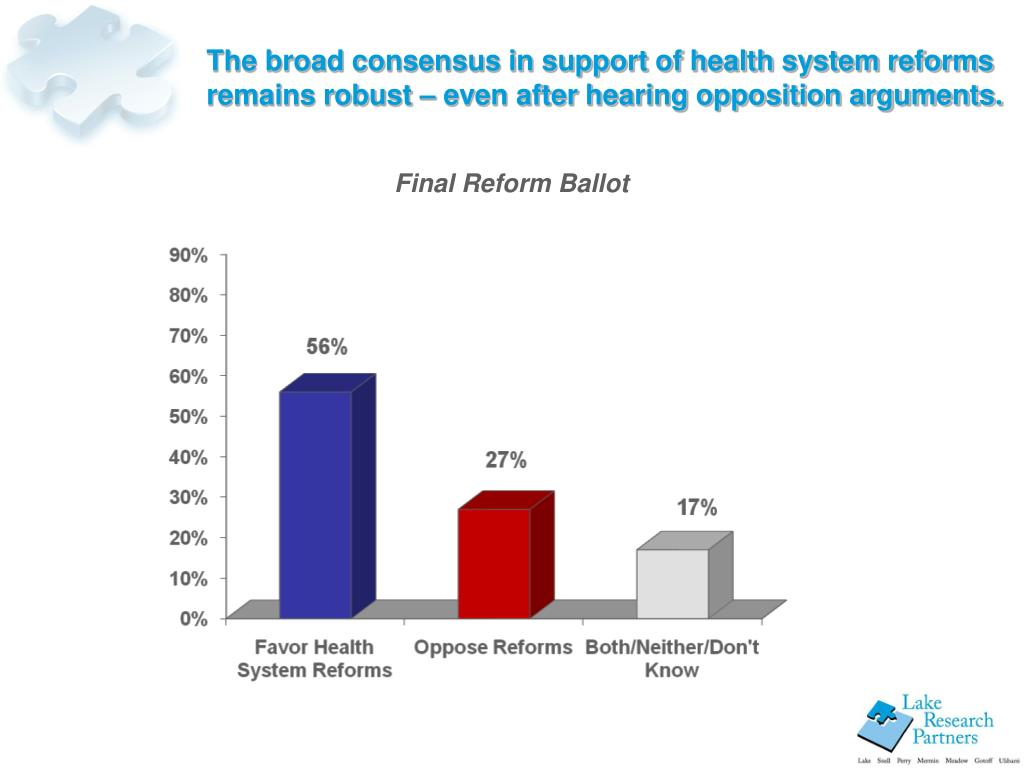 The broad consensus in support of health system reforms remains robust – even after hearing opposition arguments.