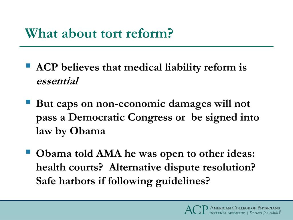 What about tort reform?