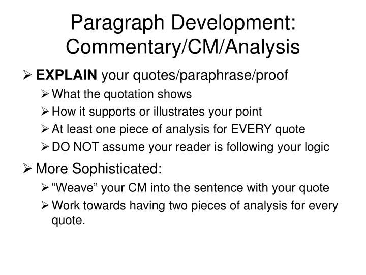 Paragraph Development: