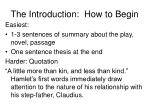 the introduction how to begin