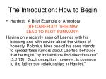 the introduction how to begin1