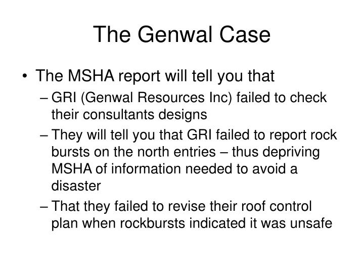 The Genwal Case