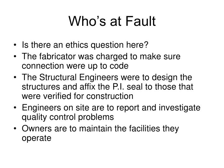 Who's at Fault