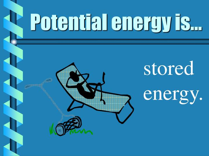 Potential energy is...