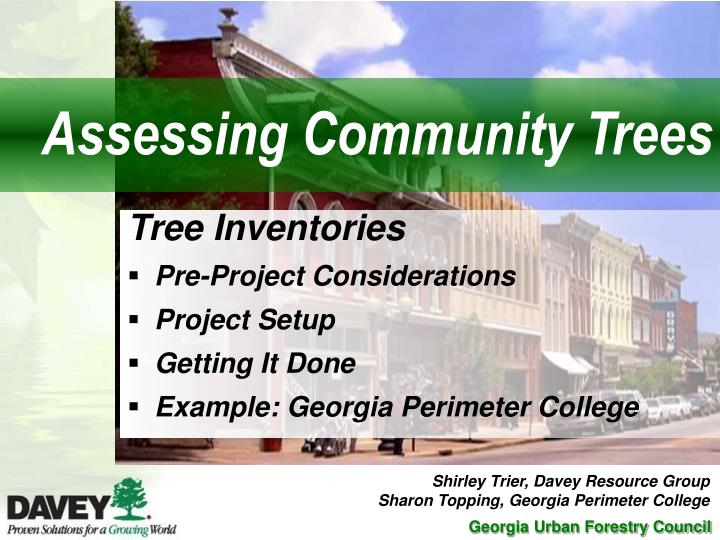 Assessing Community Trees