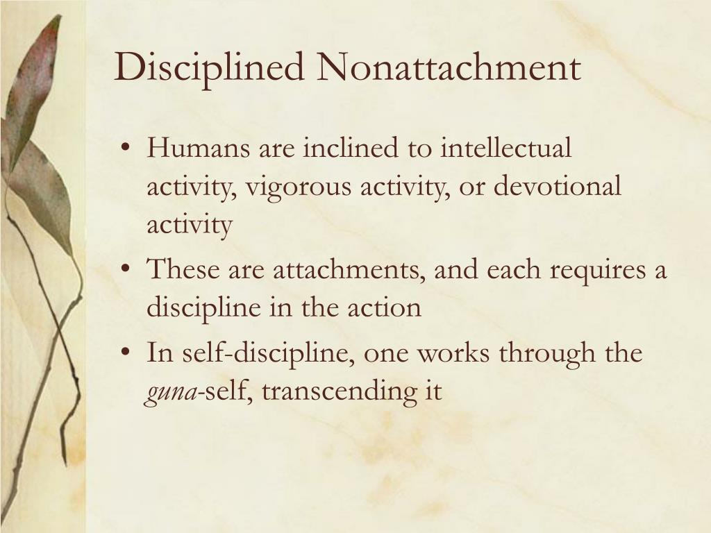 Disciplined Nonattachment