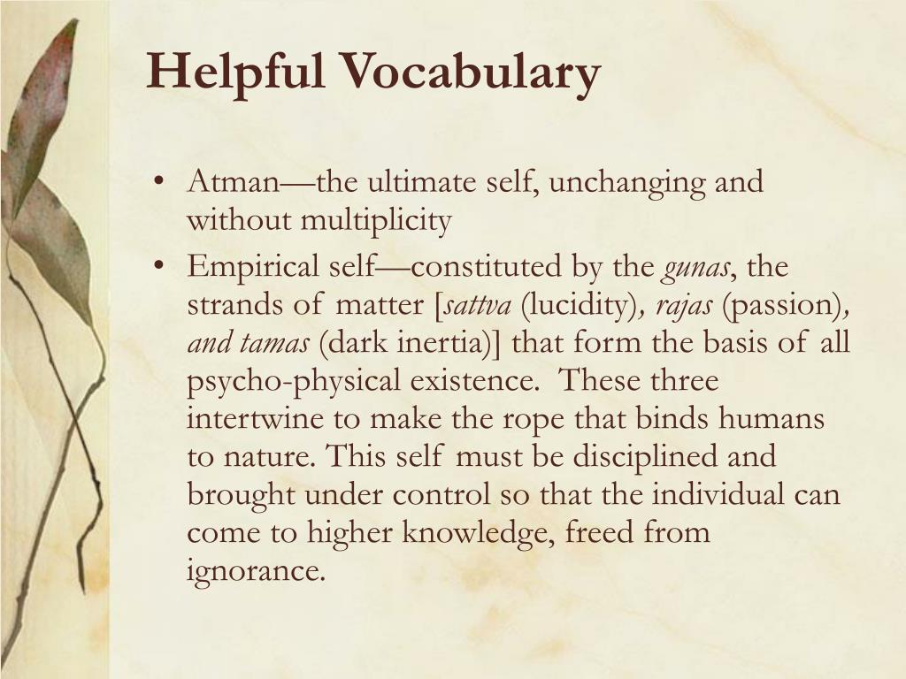 Helpful Vocabulary