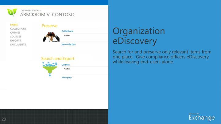 Organization eDiscovery