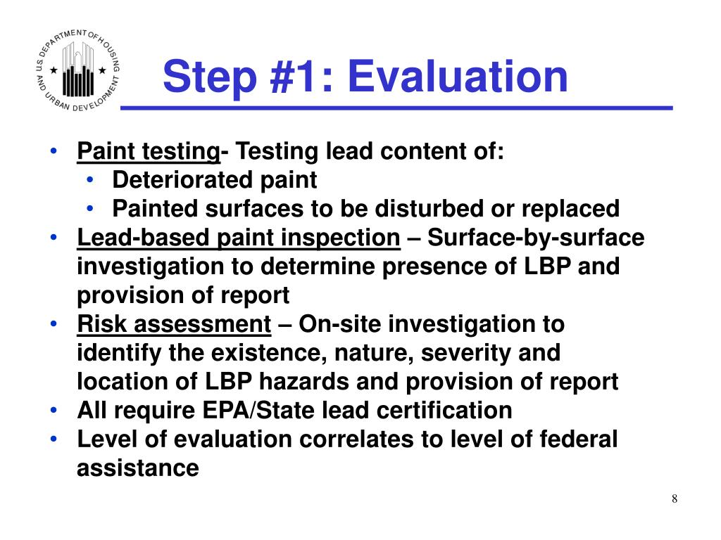 Step #1: Evaluation
