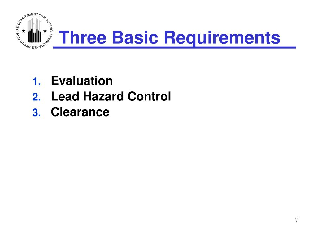 Three Basic Requirements