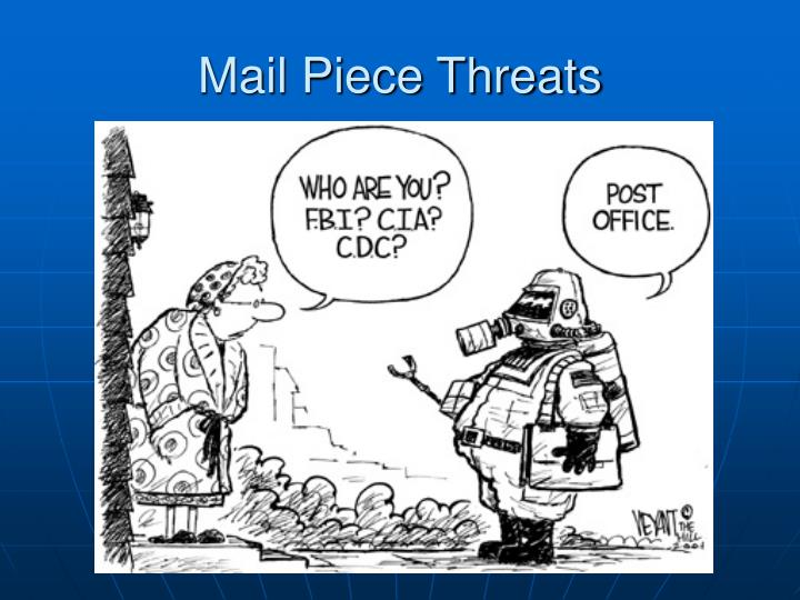 Mail Piece Threats