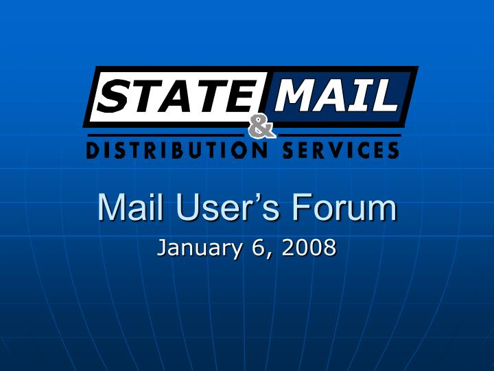 Mail User's Forum