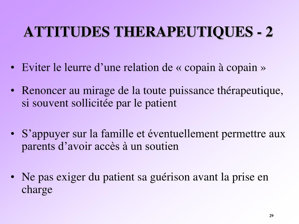 ATTITUDES THERAPEUTIQUES - 2