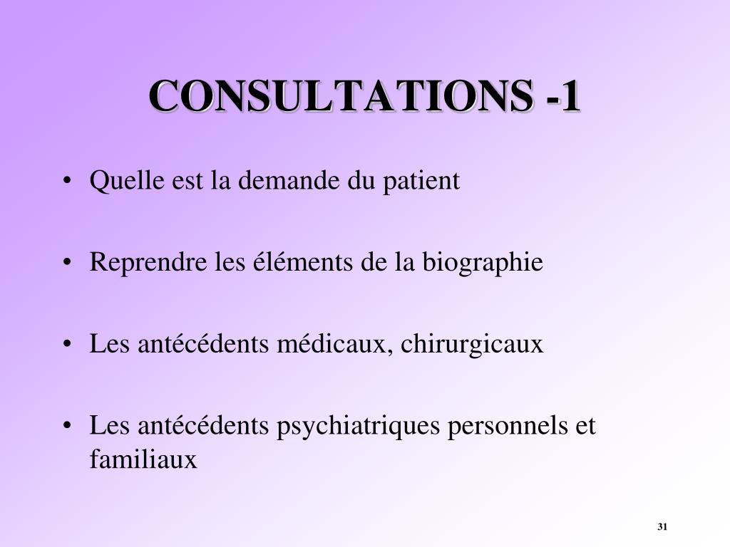 CONSULTATIONS -1